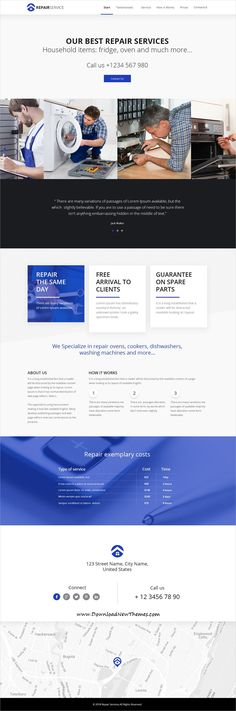 TheCapital is clean and modern design multipurpose PSD #template for creative #handyman #repair services #website with 14 niche homepage layouts and 40 layered PSD files to live preview & download click on image or Visit