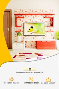 Get the most trusted interior designs for your home at the coolest prices with experts at Scaleinch. Our prices are absolutely transparent with no hidden charges. Modern Tv Unit Designs, Modern Tv Units, Living Room Cabinets, Tv Cabinets, Top Interior Designers, Interior Design Companies, Tv Unit Online, Best Interior, Interior Decorating