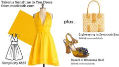 Make This Look: Taken a Sunshine to You Dress | The Sew Weekly - Sewing & Vintage Lifestyle