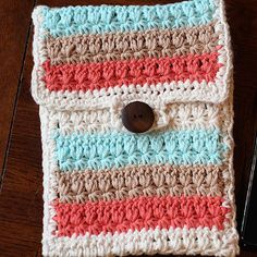 Learn a new stitch with this Star Stitch Mini Tablet Case. No one wants their iPad, Kindle, or Nook getting all scratched up.