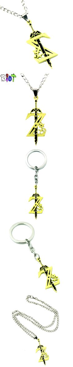 Anime Game The legend of zelda Necklace Weapon Sword Accessories alloy Pendant choker necklace keychain men jewelry Cosplay gift