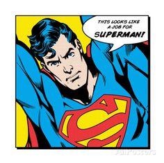 É um trabalho para o Super-Homem Impressão artística