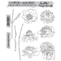 Tim Holtz Flower Garden Stamps - $21.99