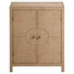 Perfect for stowing table linens in the dining room or everyday essentials in your entryway, this 2-door cabinet offers elegant style with its classic nailhe...