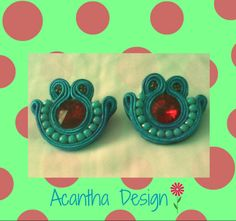 #soutache #earrings #moda #zarcillos Design, Ear Studs, Design Comics
