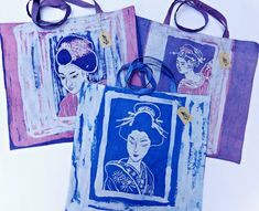 Your place to buy and sell all things handmade Japanese Geisha, Ballet Dancers, Mild Soap, Beautiful Hands, Purple, Pink, Im Not Perfect, My Arts, Reusable Tote Bags