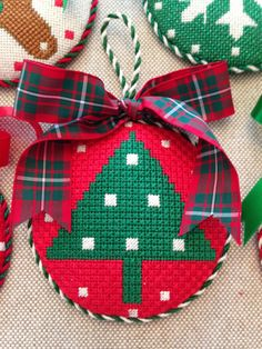 Tree Ornament ~ needlepoint canvas by Melissa Shirley
