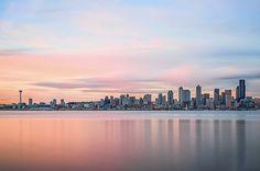 Seattle Skyline - I know where this was taken. Gorgeous shot
