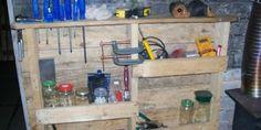 Mensola funzionale per il vostro garage fatto di pallet
