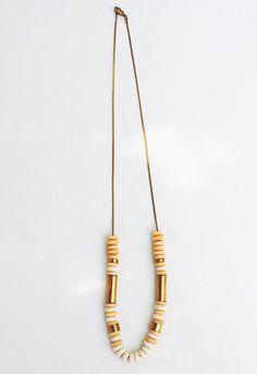 Beads & Brass Necklace by HEYMURPHY on Etsy, $75.00