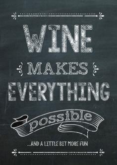 Wine Quote Vintage Chalk Print