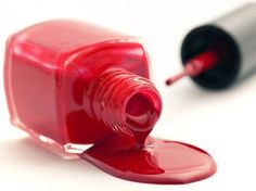 #Laundry #stain removal #tip: Nail Polish -  I got a desperate call the other day from a friend who'd just got red nail polish on her shirt and didn't know what to do! Don't panic - nail polish can be removed, provided you act fast! If the garment is water-safe, place paper towels under the stained area... *Photo by Shutterstock