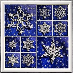 "The December photo challenge for today is ""ornaments"". Here are some tatted lace snowflakes I made over 20 years ago for the Christmas Tree. The two largest pics are snowflakes I designed. Any resemblance to someone else's design is unintentional. The rest of the snowflakes are patterns I got from various vintage needlework books.  Followers welcome on Instagram  http://instagram.com/p/hqtuYSBiNt/  #tatting #tattinglace #tattedlace #lace #chiacchierino #frivolité #frivolite #frywolitki"