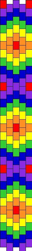 Rainbow bead pattern