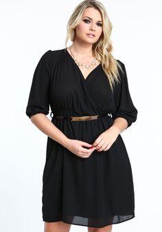 Plus Size Chiffon Wrap Dress - Love Culture