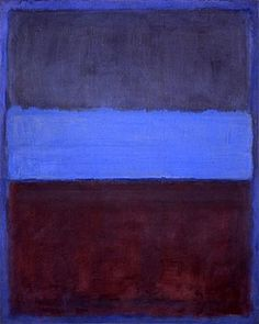 I love the texture. I love the warmth in this blue painting. I love Rothko.