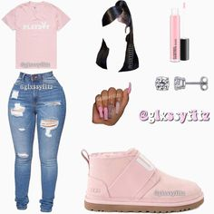 """Outfit Inspo on Instagram: """"Who's this? • (Shoes were requested) • Rate this outfit 1-10♥️ Follow @glxssyfitz for more fits😃 • Tags: #glxssyfitz #outfitinspo…"""" Cute Lazy Outfits, Baddie Outfits Casual, Swag Outfits For Girls, Cute Swag Outfits, Girls Fashion Clothes, Teenager Outfits, Dope Outfits, Teen Fashion Outfits, Accesorios Casual"""