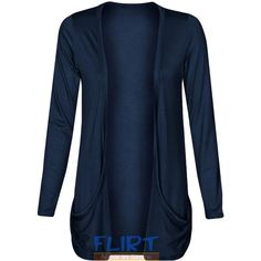 Fashion Wardrobe Womens Long Sleeves Drop Pocket Boyfriend ...