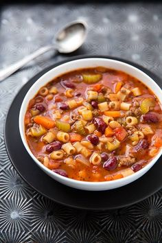 Skinny Points – Recipes » Olive Garden Slow Cooker Pasta Fagioli Recipe (5 smartpoints)