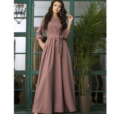 Vintage Long Dress, Vintage Dresses, Modest Maxi Dress, Elegant Party Dresses, Long Casual Dresses, White Dresses For Women, Floor Length Dresses, Tie Dress, Mode Inspiration