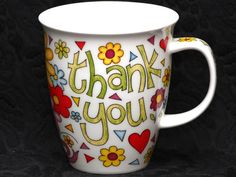 DUNOON THANK YOU Fine Bone China NEVIS Mug