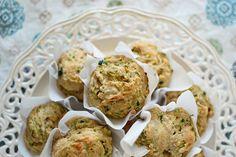 Savory Whole Grain Zucchini Cheddar Muffins