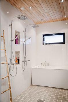 Vihervaara HARMAJA ulkoasulla - Kannustalo My Dream Home, Alcove, Bathrooms, Bathtub, Saunas, Showers, Bathroom Ideas, House, Inspiration