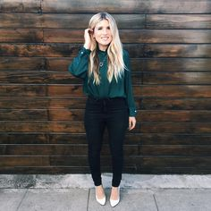 #OOTD featuring one of my favorite colors of emerald green for shirts AND walls! As seen in @musickillskate and @twschwa's apartment makeover on #OMGWeAreComingOver (video on our channel 👉 YouTube.com/mrkate) and also seen lots in #pumprules (on tonight!) Thank you all for making this our best Black Friday and Cyber Monday sale yet! Our small business hearts are feeling very blessed by all your orders! 👚& 👠: Zara 👖: Forever21 💎: #mrkate 📷: @feelingfree  #style #creativeweirdos #whynot…