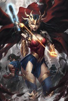 Batman Wonder Woman, Wonder Woman Art, Wonder Woman Comic, Death Metal, Comic Books Art, Comic Art, Dark Knights Metal, Arte Dc Comics, Dc Comics Characters