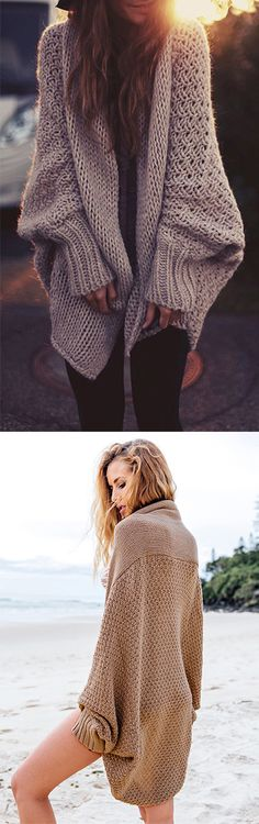 We're setting you up with some drool-worthy Cardigans.Those Khaki Batwing Sleeve Open Front Knit Cardigans are what you'll throw on and never want to take off. Shop the latest trends at OASAP and you won't be disappointed!