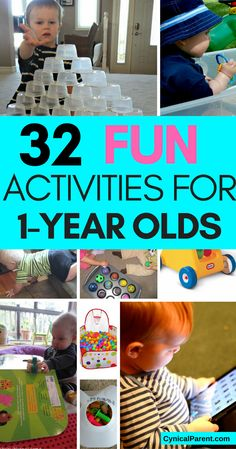 Here is an AMAZING list of fun activities for 1-year olds; I promise, if you follow this list, you'll never run out of things to do with your little one.