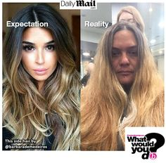 * She refused to pay and almost got arrested! We were speechless.... but you weren't .... #behindthechair #ombre #balayage