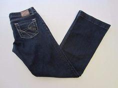 BKE Denim Jeans 28 x 31 1/2 Sabrina Flare Hemmed Juniors #BKEDenim #Flare