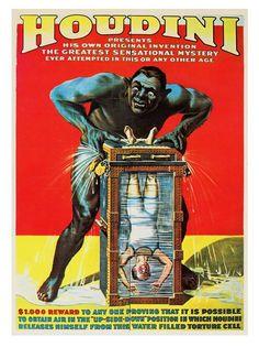 Harry Houdini, Vintage Magic Poster