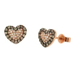 Jewelry Point - 0.45ct Fancy Brown Diamond Heart Stud Earrings 14k Rose Gold, $559.00 (http://www.jewelrypoint.com/0-45ct-fancy-brown-diamond-heart-stud-earrings-14k-rose-gold/)