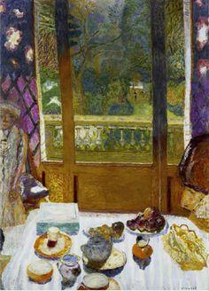 Pierre Bonnard Dining Room Overlooking the Garden (The Breakfast Room) oil on canvas The Museum of Modern Art, New York Pierre Bonnard, Paul Gauguin, Alphonse Mucha, Paintings I Love, Indian Paintings, Renoir, Museum Of Modern Art, Oeuvre D'art, Framed Art Prints