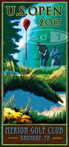 Open at Merion 2013 golf gift sports golf art poster print painting Type Posters, Poster Prints, Framed Prints, Golf Art, Vintage Golf, Borders For Paper, Golf Gifts, Giclee Print, Sports