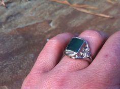 18kt Palladium White Gold Diamond and Emerald Engagement Ring- Green Engagement Ring-Organic Wedding Ring-Branch Ring Wedding on Etsy, $3,999.00 Melissatysondesigns.etsy.com