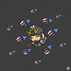 basicly me cosplaying NU gundam in chibi artstyle Gundam, Chibi, Cosplay