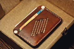 Rugged leather wallet / Slim Wallet/ Leather от northwardhandcraft-SR