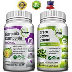 GreeNatr Weight Loss Bundle with Pure Green Coffee Bean Extract and Pure Garcinia Cambogia Extract, 120 Capsules *** Discover this special product, click the image : Garcinia cambogia