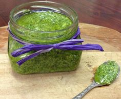 Recipe Basil & Kale Pesto by learn to make this recipe easily in your kitchen machine and discover other Thermomix recipes in Basics. Kale Pesto, Preserves, Guacamole, Hummus, Basil, Sauces, Salsa, Dips, Gluten Free