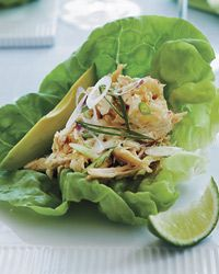 Spicy Asian-Chicken-Salad Lettuce Cups Recipe from Food & Wine