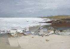 Contemporary art by artist Chris Bushe on view at Mixed Summer Exhibition Gallery Heinzel, Aberdeen Abstract Nature, Abstract Canvas, Abstract Landscape, Fantasy Paintings, Seascape Paintings, Landscape Paintings, Art And Illustration, Palette Art, Texture Painting