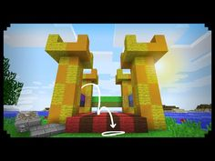 Minecraft: How to make a Working Bouncy Castle i found this on YouTube it looks like fun and really cool:-)