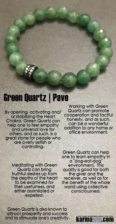 Green is also known attracts prosperity and success and to stimulate one's creativity. Crystals And Gemstones, Stones And Crystals, Natural Gemstones, Gem Stones, Yoga Jewelry, Jewelry Gifts, Handmade Jewelry, Hippie Jewelry, Tribal Jewelry