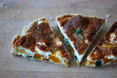 pumpkin, spinach, and goat cheese tart