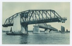 Swing-Bridge on the Yalu River. Sinuiju. 1918-1933 East Asia Images, Imperial Postcard Collection, Lafayette College.