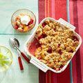 Peach-Raspberry Crisp - Peaches and raspberries harmonize perfectly in this summer crisp.