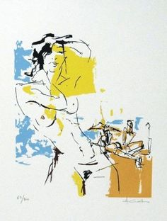 Alfredo Coelho_Nú abstrato_Serigrafia